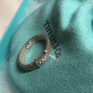 Tiffany ring with diamonds sz7.5